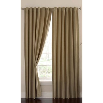 Alcott Hill Moser Velvet Rod Pocket Window Thermal Single Curtain Panel