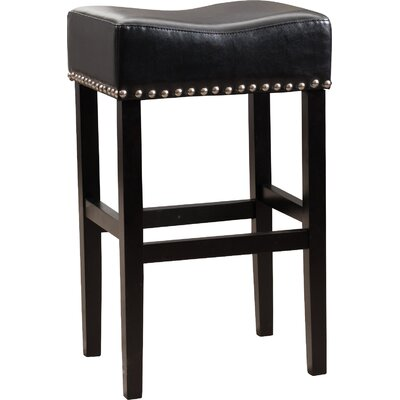 Shaws 30 Bar Stool with Cushion Upholstery: Black