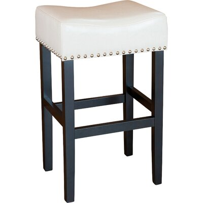 Shaws 30 Bar Stool Upholstery: Ivory