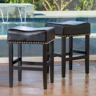 Shaws 26 inch Bar Stool with Cushion Upholstery: Black