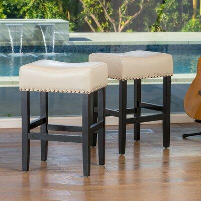 Shaws 26 Bar Stool Upholstery: Ivory