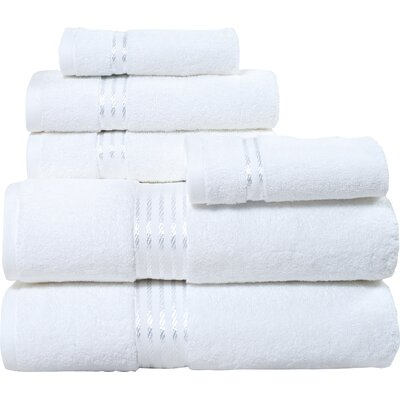 Hotel 6 Piece Towel Set Color: White