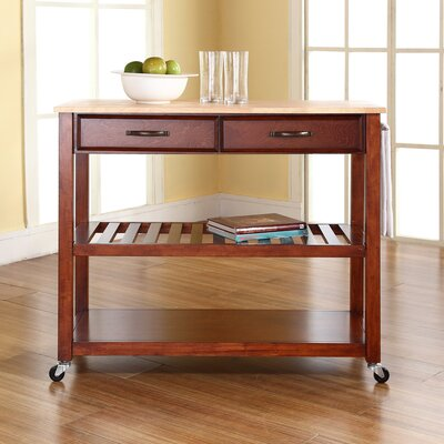 Zacharias Kitchen Cart Frame Finish: Cherry