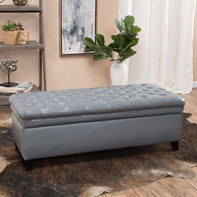 Cullins Tufted Storage Ottoman Upholstery: Gray