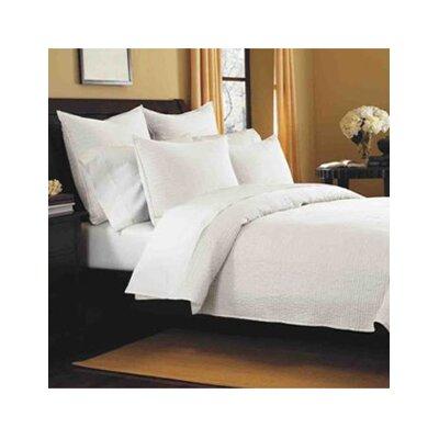 Canton Classic Cotton Quilt Size: King, Color: White Stripe