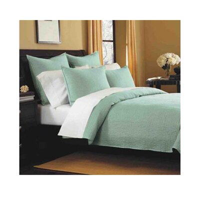 Spurling Hill Classic Cotton Quilt Size: King, Color: Blue Stripe