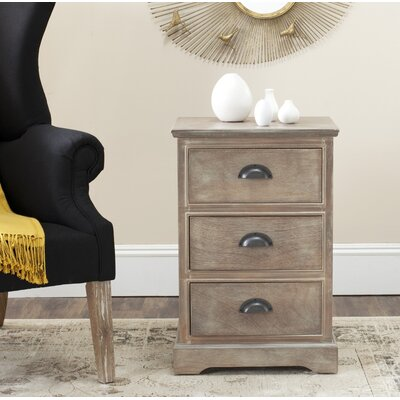3 Drawer End Table Finish: Gray Wash