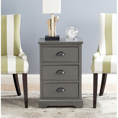 3 Drawer End Table Finish: Gray
