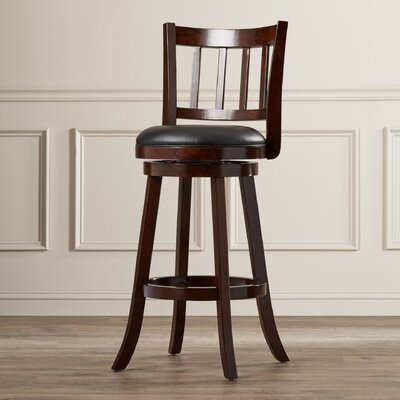 Hardcastle 29 Swivel Bar Stool Finish: Cappuccino