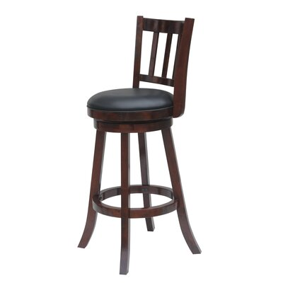 Hardcastle 29 Swivel Bar Stool Finish: Cherry