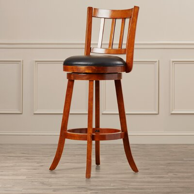 Hardcastle 29 Swivel Bar Stool Finish: Walnut