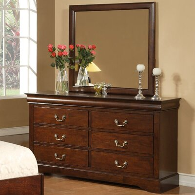 Ferrero 6 Drawer Dresser with Mirror