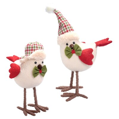 Alcott Hill Hawridge 2 Piece Tailed Baby Bird Figurine Set