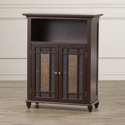 Caleb 2 Door Floor Cabinet Finish: Dark Espresso