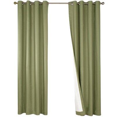 Alcott Hill Morrison Cotton Grommet Blackout Thermal Single Curtain Panel
