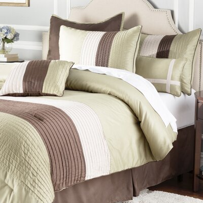 Windward 8 Piece Comforter Set Size: King, Color: Sage