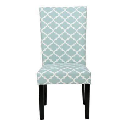 Greenbrier Valley Side Chair Upholstery: Light Blue