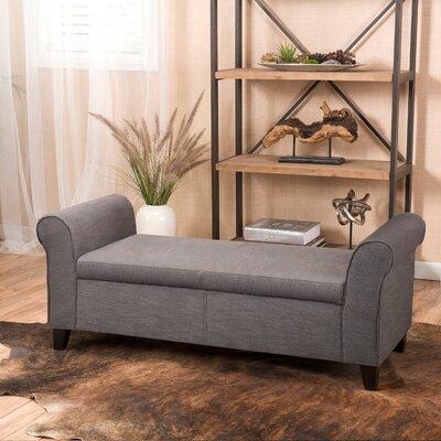 Varian Upholstered Storage Bedroom Bench Upholstery: Gray