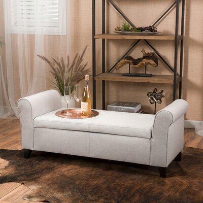 Varian Upholstered Storage Bedroom Bench Upholstery: Light Gray