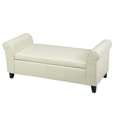 Varian Upholstered Storage Bedroom Bench Upholstery Color: Ivory