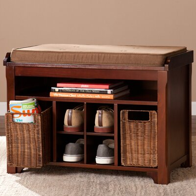 Griffin Brook Wood Storage Entryway Bench