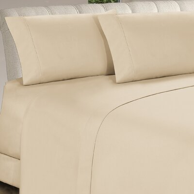 Longfellow 4 Piece Sheet Set Size: Twin, Color: Cream
