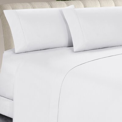 McCain 4 Piece Sheet Set Color: White, Size: California King