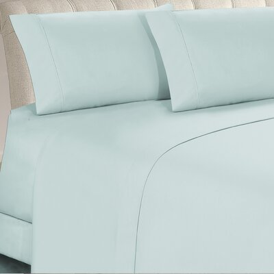 Longfellow 4 Piece Sheet Set Size: Twin, Color: Aqua