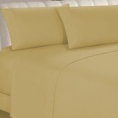 Longfellow 4 Piece Sheet Set Size: King, Color: Camel