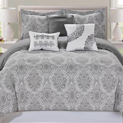 Varian 7 Piece Comforter Set Size: King