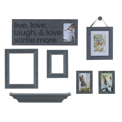 8-Piece Distressed Wall Picture Set