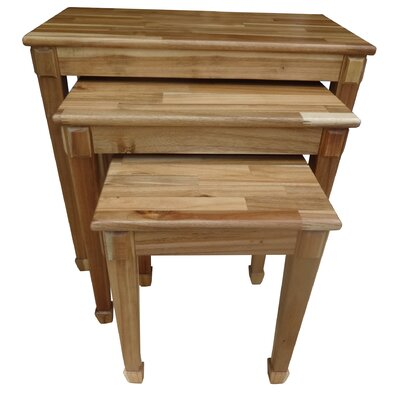 Bissette 3 Piece Nesting Table Set