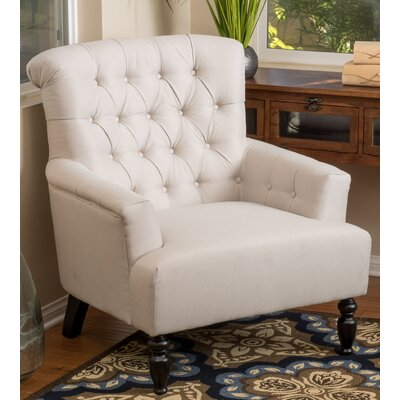 Verona Tufted Fabric Arm Chair