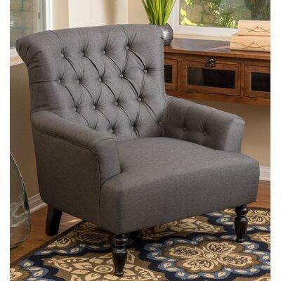 Verona Tufted Fabric Arm Chair Upholstery: Dark Gray