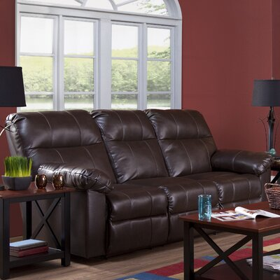Serta Upholstery Manchester Reclining Sofa Upholstery: Troy Beaver