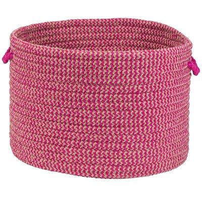 Hesser Utility Basket Color: Magenta Check, Size: 10
