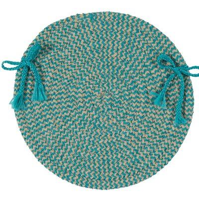 Chair Cushion Fabric: Teal Check