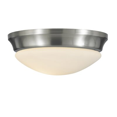 Pompton 1-Light Flush Mount Finish / Size: Brushed Steel / 5.75 H x 16.5 W