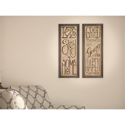 Alcott Hill Vicente 2 Piece Framed Textual Art Set