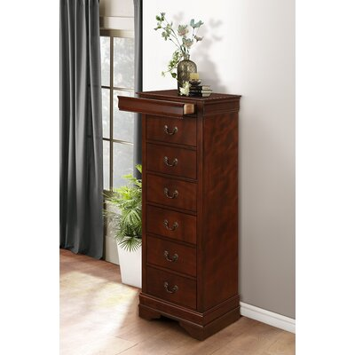Waynesburg 7 Drawer Lingerie Chest Finish: Burnished Brown Cherry