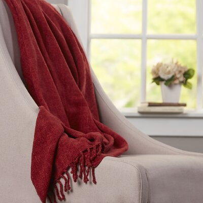 Oliver Chenille Throw Blanket Color: Berry