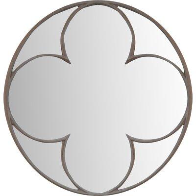 Round Quatrefoil Mirror