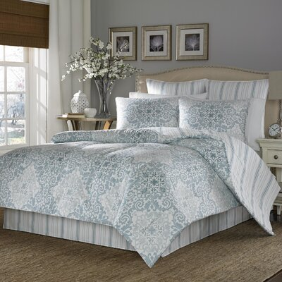 Portsmouth 4 Piece Reversible Comforter Set Size: King