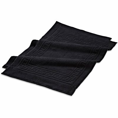Superior Bath Rug Set Color: Black