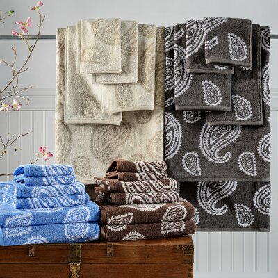 6-Piece Paisley Cotton Towel Set