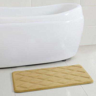 Sherrodsville Memory Foam Embossed Bath Rug Size: 15 x 2