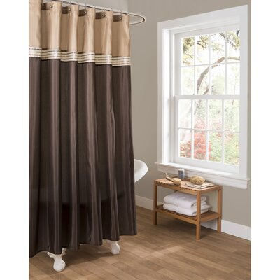 Culpeper Shower Curtain Color: Brown / Beige