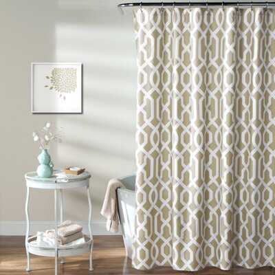Caledonia Shower Curtain Color: Taupe