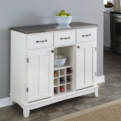 Ferris 3 Drawer Server Color: White