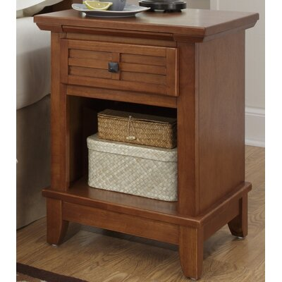 Ferryhill 1 Drawer Night Stand Finish: Warm Cottage Oak